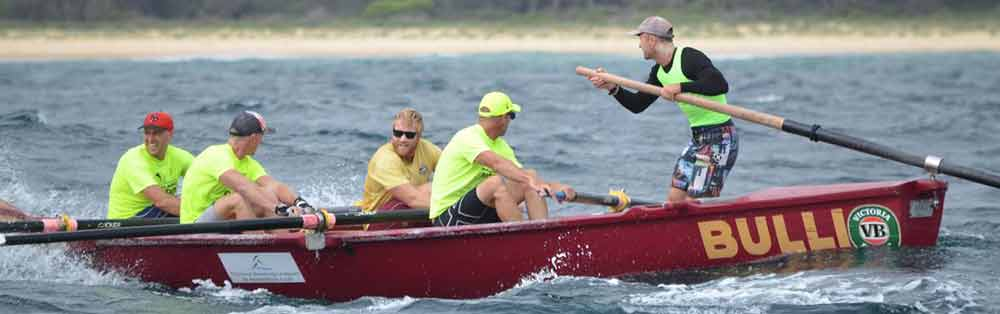 OPEN WATER: Bulli's Open Men's crew have won three legs in a row, and look set to claim the 2018 George Bass Marathon title.